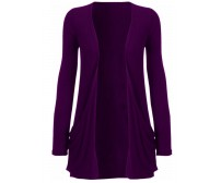 Cardigan purple